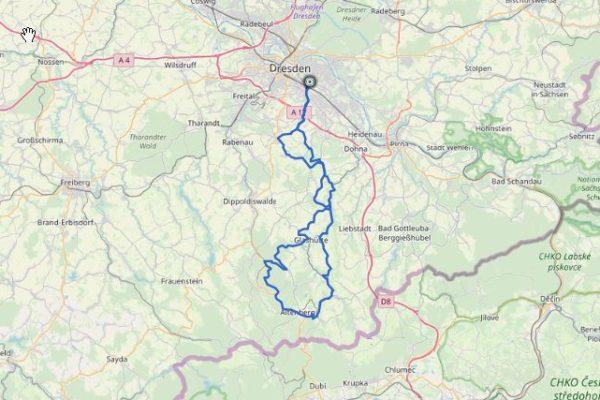 GPX Track von Dresden nach Altenberg (Erzgebirge) auf Karte