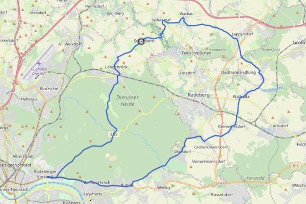 Dresden Wachau GPX Track auf Karte