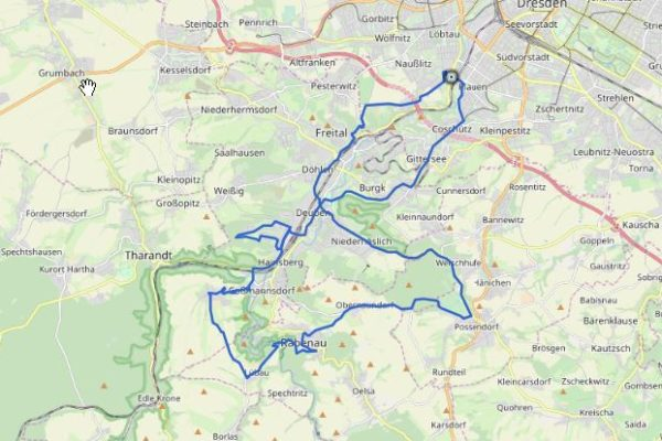 GPX Track Freital Rennradtour auf Karte