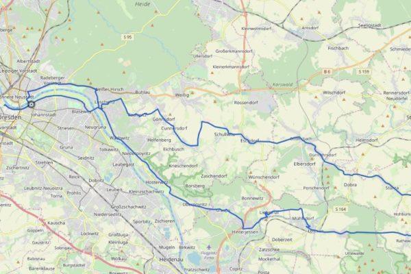 GPX Track von Dresden nach Hohnstein auf Karte
